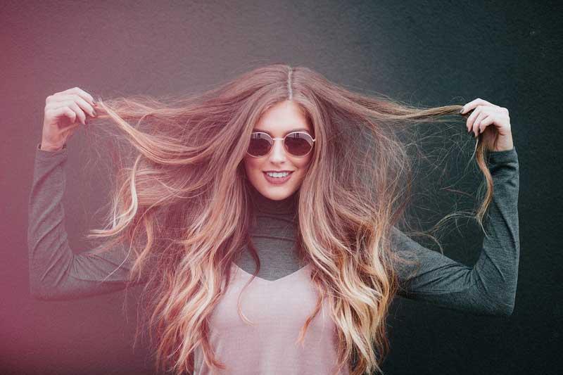 rambut lurus alami