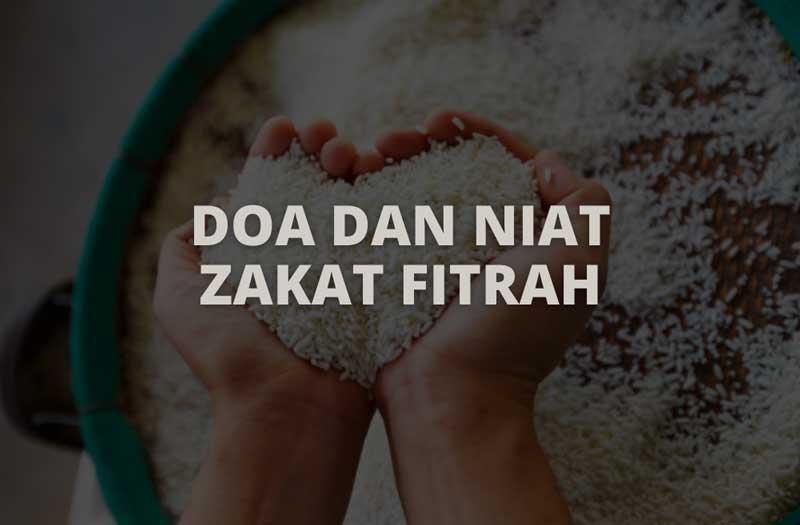 Doa dan niat zakat fitrah
