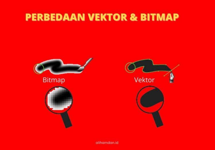 perbedaan vektor dan bitmap